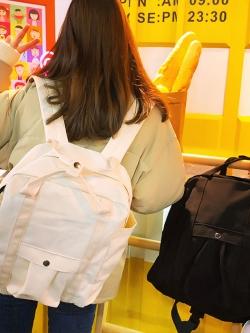 กระเป๋าผ้าใบสะพายหลังสไตล์ญี่ปุ่น