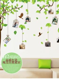 สติ๊กเกอร์ติดผนังขนาดใหญ่ลายต้นไม้กรอบรูปตกแต่งห้องห้องนอนห้องนั่งเล่น(60*90 แพ๊คคู่)