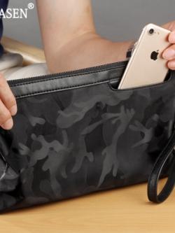 กระเป๋าสตางค์ถือเกาหลี แต่งลายพรางทหาร ดีไซน์ช่อง มี2สี2ขนาด