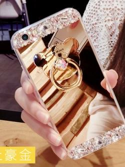 เคสไอโฟน/iPhone ดีไซน์กระจก แต่งเพชรหรูหรา มี3สี