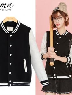 เสื้อแจ็คเก็ตเบสบอล เรียบสวย สไตล์เกาหลี มี4สี