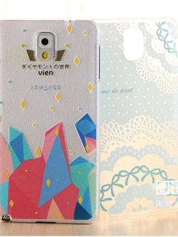 *** พร้อมส่ง *** เคสพลาสติกซัมซุงโน๊ต3 เคสใสนูนเคลือบภาพวาดสไตล์เกาหลี Samsung Note3 Case