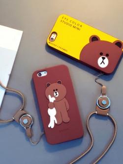 เคสไอโฟน 6/7/6plus/7plus Sticker LINE มี4แบบ