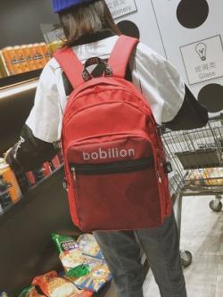 กระเป๋าเป้สะพายหลัง ดีไซน์ชั้นเก็บของ สไตล์เกาหลี มี4สี