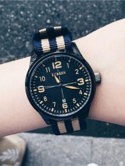 นาฬิกาข้อมือเกาหลี ดีไซน์แถบสี แนวโมเดิร์น มี4สี