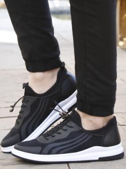 รองเท้าผ้าใบเกาหลี แต่งลายเส้นด้านข้าง ขอบขาว มี2สี