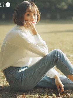 กางเกงยีนส์ขายาวเกาหลี เรียบสวย ทรงตรง มี2สี