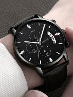 นาฬิกาข้อมือสีดำเกาหลี SMARTANALOG เข็มเรืองแสง