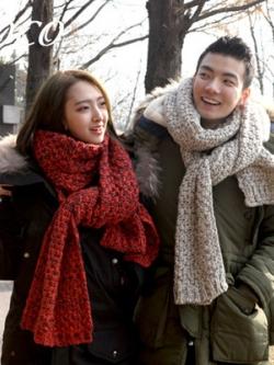 ผ้าพันคอขนสัตว์เกาหลี จากซีรี่ย์ดัง ผ้าหนานุ่มใส่สบาย มี2สี