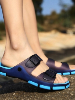รองเท้าแตะเกาหลี แต่งสายคาดเข็มขัด มี5สี