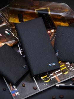 กระเป๋าสตางค์เกาหลี สีดำ เนื้อนิ่ม ดีไซน์ Armani