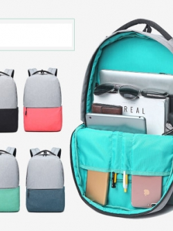 กระเป๋าเป้สะพายเกาหลี แต่งสีทูโทน แนวเดินทางสะดวกสบาย มี4สี