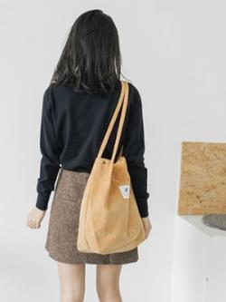 กระเป๋าสะพายข้างเกาหลี ผ้าลูกฟูก สไตล์ลำลอง มี4สี