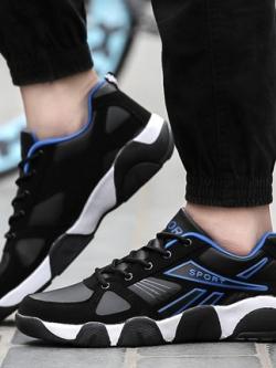 รองเท้าผ้าใบเกาหลี แนวกีฬา แต่งแถบด้านข้าง มี3สี