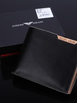 กระเป๋าสตางค์เกาหลี สีดำ ดีไซน์งานโมเดิร์น ด้านในสวยงาม