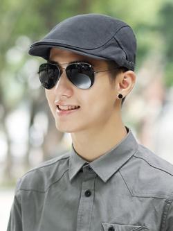 หมวกเบเร่ต์เกาหลี แต่งเส้นขอบ ทรงยุโรป มี4สี