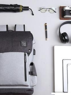 กระเป๋าเป้สะพายหลัง แต่งฝาเปิดปิดกระเป๋า ดีไซน์ช่องเก็บของ มี3สี