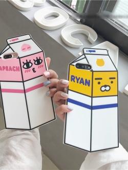 เคสไอโฟน 7/7Plus/6/6S/6Plus เคสซิลิโคนกล่องนมเกาหลีน่ารัก iPhone7/7Plus/6/6S/6Plus Case