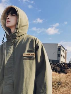 เสื้อฮู้ดแจ็คเก็ตเกาหลี FEAR OF GOD จั้มแขน มี3สี