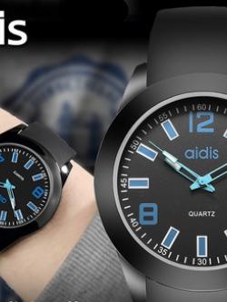นาฬิกาข้อมือเกาหลี แต่งหน้าปัดสีสันสดใส มี4สี