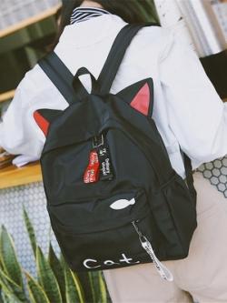 กระเป๋าเป้สะพายหลังเกาหลี แต่งหูสัตว์น่ารัก มี4สี