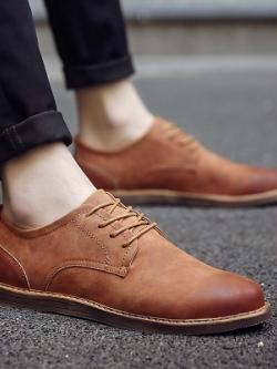 Pre Order รองเท้าหนังผู้ชาย ทรงคลาสสิก สไตล์ยุโรป มี3สี