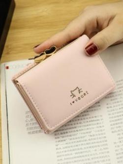 กระเป๋าสตางค์เกาหลี แต่งรูปสัตว์น่ารัก เรียบสวย มี4สี