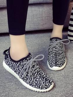 รองเท้าผ้าใบเกาหลี แนวSport แต่งลาย มี3สี