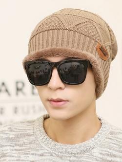 หมวกกันหนาวเกาหลี แนวไหมพรม แต่งลายบิดถัก ดีไซน์ขอบนุ่ม มี6สี