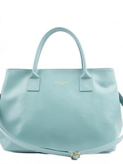 *** พร้อมส่ง *** กระเป๋าสะพายไหล่สีมิ้นท์สวยๆ หิ้วได้จากเกาหลี รูดซิป ดีไซน์ด้านข้างแบบติดกระดุมแป๊บ