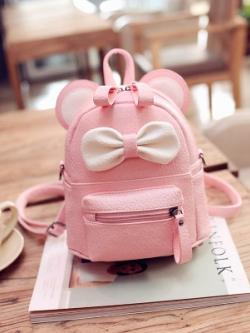 กระเป๋าสะพายเกาหลี แต่งโบว์ มีหูน่ารัก มี4สี