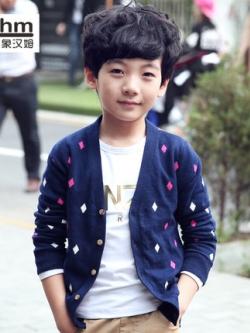 เสื้อคลุมเด็กเกาหลีแนวสเวตเตอร์ แต่งลายกราฟฟิค มี2สี