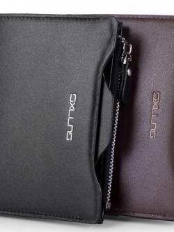 กระเป๋าสตางค์หนังเกาหลี Sxllns เรียบสวย มีช่องเก็บของมากมาย มี2สี