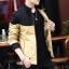 Pre Order เสื้อแจ็คเก็ตกันหนาวแขนยาว บุกำมะหยี่ด้านใน แต่งสีทูโทน แนวเกาหลี มี4สี thumbnail 4