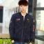 Pre Order เสื้อแจ็คเก็ตแขนยาวแนวนักบิน แต่งลายคลาสสิก สไตล์เกาหลี มี4สี thumbnail 2