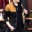 Pre Order เสื้อแจ็คเก็ตกันหนาวแขนยาว บุกำมะหยี่ด้านใน แต่งสีทูโทน แนวเกาหลี มี4สี thumbnail 2