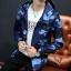 Pre Order เสื้อแจ็คเก็ตลายพราง แขนยาว มี HOOD สไตล์เกาหลี มี4สี thumbnail 2