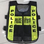 เสื้อสะท้อนแสง POLICE / ตำรวจ ซิป ดำ-เหลือง