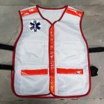 เสื้อกั๊กสีขาว EMS 1669 - แดง