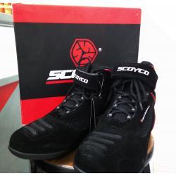 รองเท้า Scoyco MBT001 #สีดำเส้นแดง