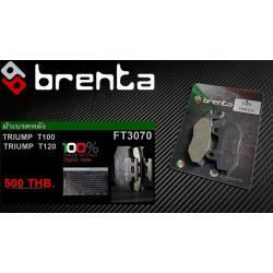 ผ้าเบรคหน้า BRENTA ORGANIC BRAKE PADS สำหรับ (Honda CBR600RR-1000RR) FT3116