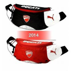 กระเป๋าคาดเอว Puma DUCATI (ซิปแดง) #สีดำ/สีแดง
