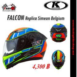 หมวกกันน็อค K-racing รุ่น Falcon Replica Simeon Belgium