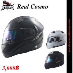 หมวกกันน็อค Real Cosmo เปิดคาง มีแว่น (มี 3 สีให้เลือก)