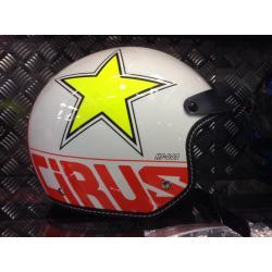 หมวกกันน็อค HJC Cirus MC-10 (ครึ่งใบ) #สีขาวลายดาว