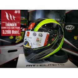 หมวกกันน็อคMT Thunder Technik Gloss Black Fluor Yellow