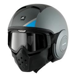 หมวกกันน็อค SHARK Raw (MICHALAK Mat Silver Black Blue)