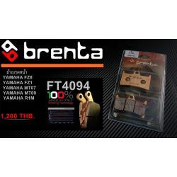 ผ้าเบรคหน้า BRENTA SINTERED BRAKE PADS สำหรับ (Yamaha R1 07-12) FT4118