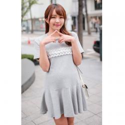 Maternity dress ชุดคลุมท้อง สีเทา