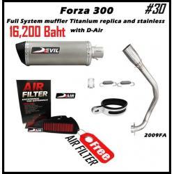 ท่อ HONDA Forza300 Devil Full System muffler Titanium replica and stainless #30